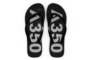 Airbus A350 Text Designed Slippers (Flip Flops)
