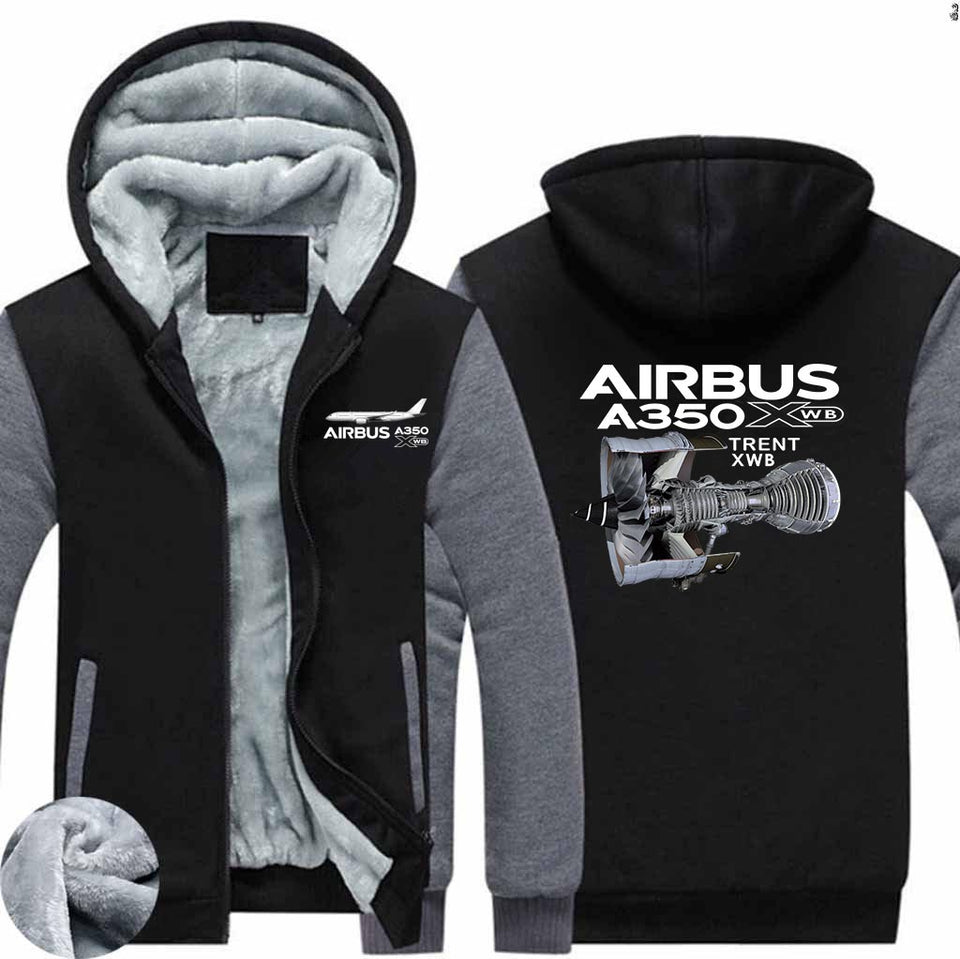 Airbus A350 & Trent WXB Engine Designed Zipped Sweatshirts