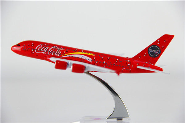 Airbus A380 (Coca-Cola Livery) Airplane Model (16CM)