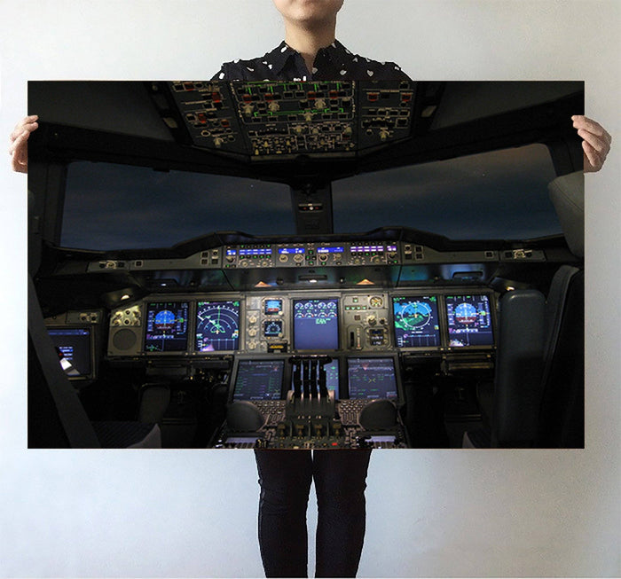 Airbus A380 Cockpit Printed Posters Aviation Shop
