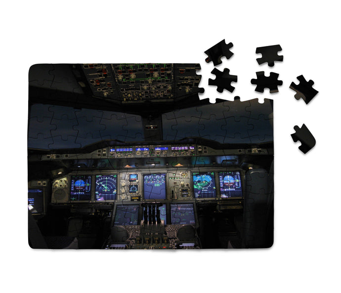 Airbus A380 Cockpit Printed Puzzles Aviation Shop