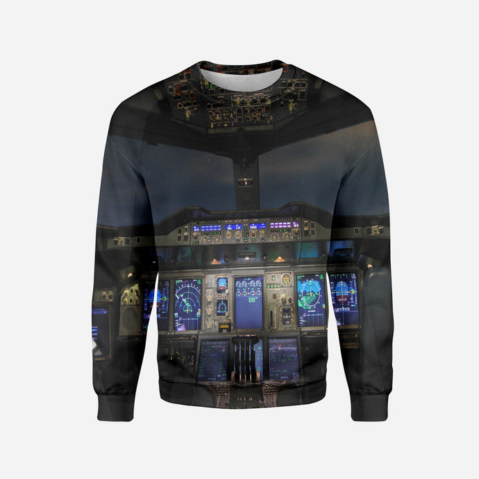 Airbus A380 Cockpit Printed 3D Sweatshirts