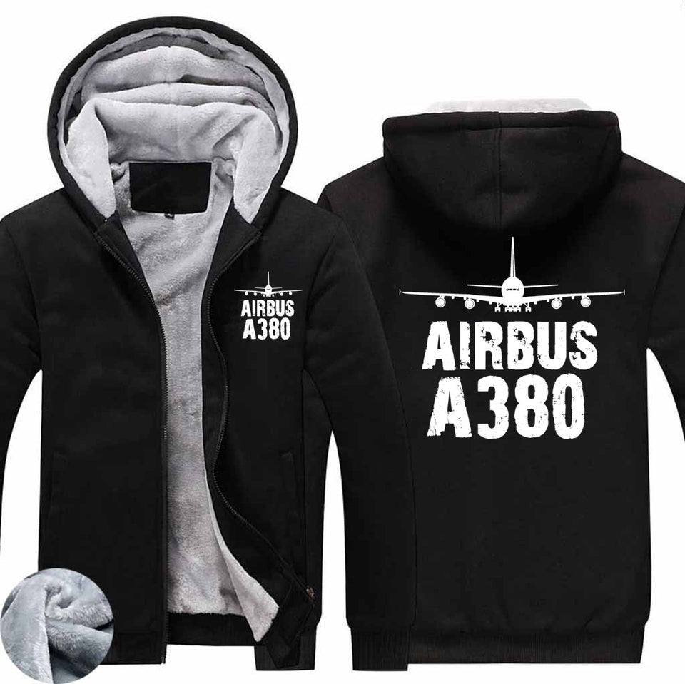 Airbus A380 & Plane Designed Zipped Sweatshirts