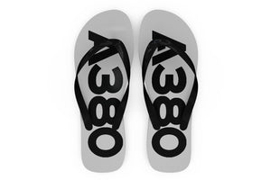 Airbus A380 Text Designed Slippers (Flip Flops)