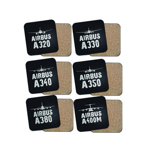 SPECIAL OFFER! Airbus Lovers (6 Pieces) Coasters Pilot Eyes Store