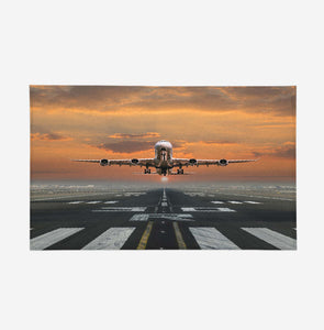 Aircraft Departing from RW30 Designed Door Mats
