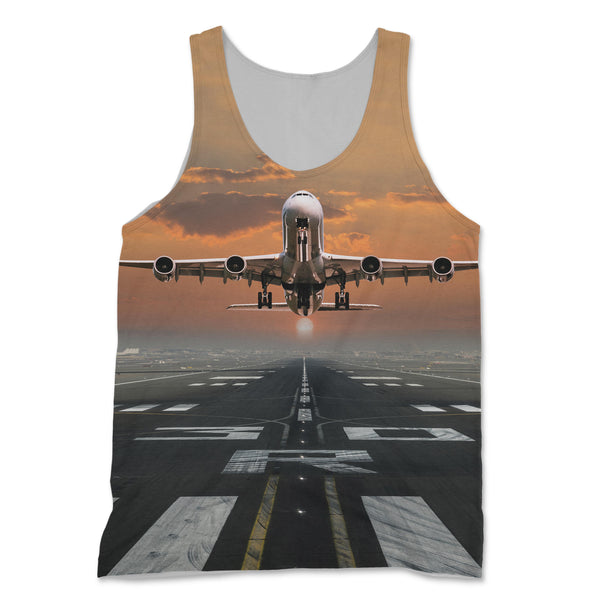 Aircraft Departing from RW30 Designed 3D Tank Tops