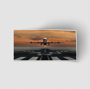 Aircraft Departing from RW30 Designed Stickers