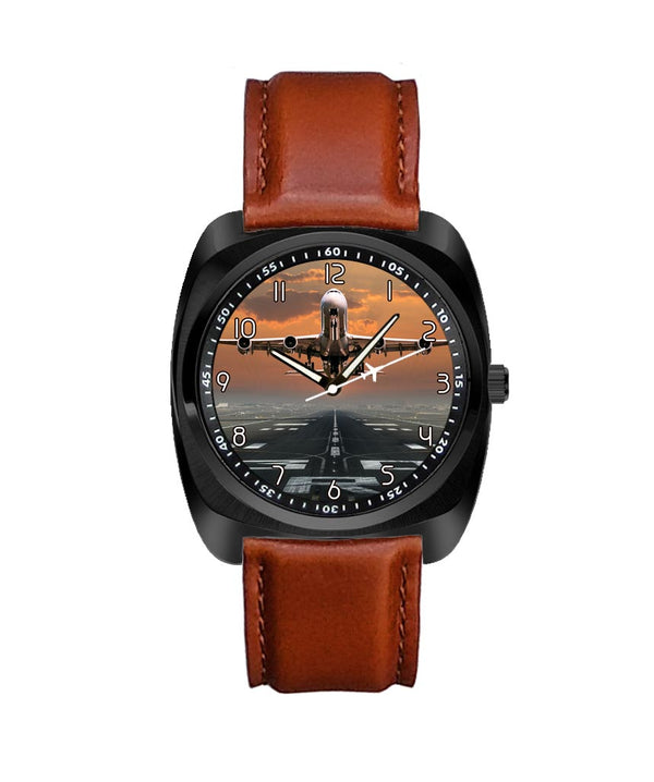 Aircraft Departing from RW30 Designed Luxury Watches