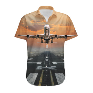 Aircraft Departing from RW30 Designed 3D Shirts