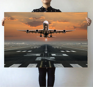 Aircraft Departing from RW30 Printed Posters Aviation Shop