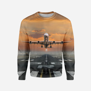 Aircraft Departing from RW30 Printed 3D Sweatshirts