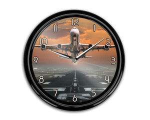 Aircraft Departing from RW30 Printed Wall Clocks Aviation Shop