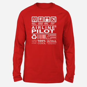 Airline Pilot Label Designed Long-Sleeve T-Shirts