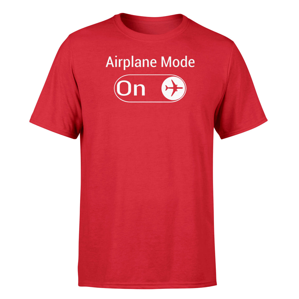 Airplane Mode On Designed T-Shirts