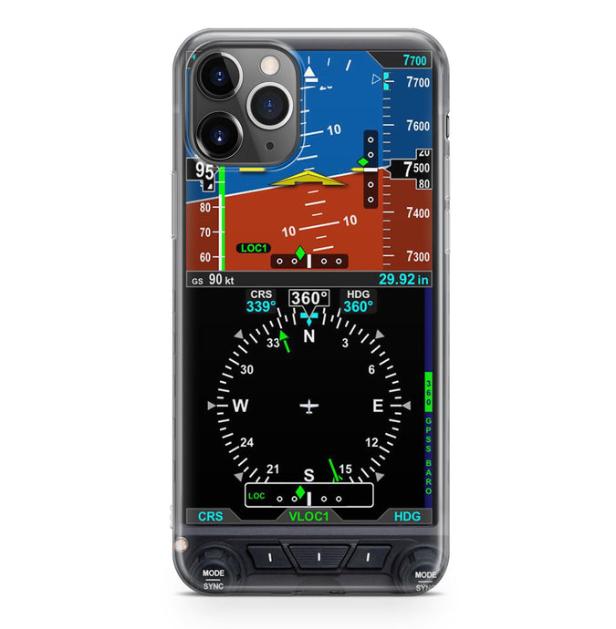 Airplane Primary Flight Display & HSI Designed iPhone Cases