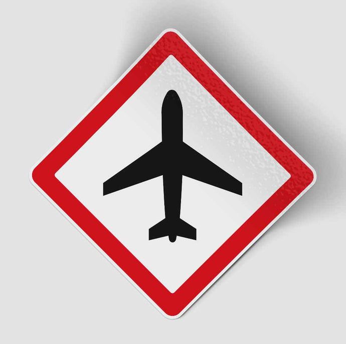 Airplane Warning Designed Stickers