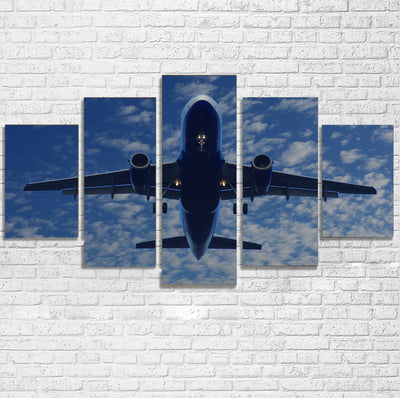 Airplane From Below Printed Multiple Canvas Poster