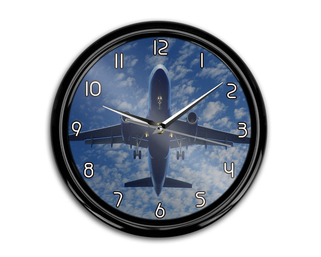 Airplane From Below Printed Wall Clocks Aviation Shop