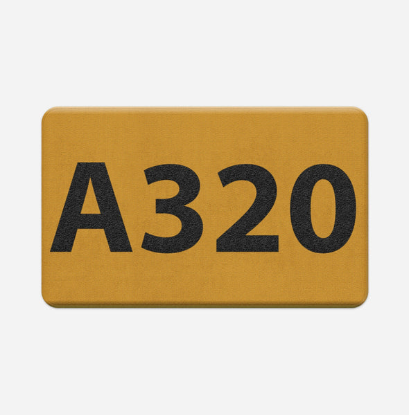 "Airport Ground Signs Designed ""Airbus A320"" Door & Bath Mats"