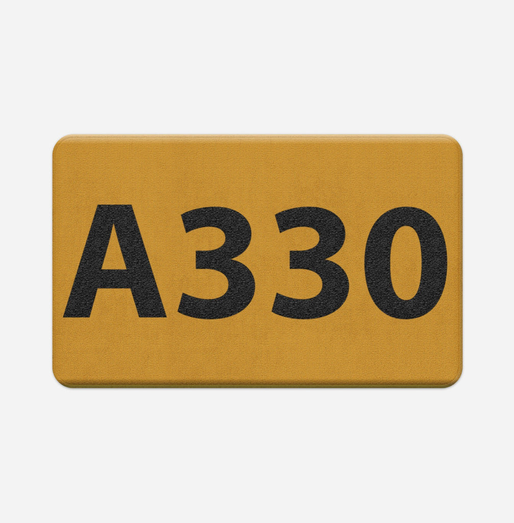 "Airport Ground Signs Designed ""Airbus A330"" Door & Bath Mats"