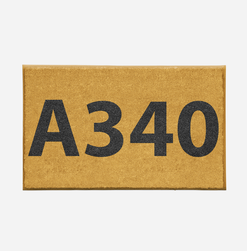 "Airport Ground Signs Designed ""Airbus A340"" Door Mats Aviation Shop"