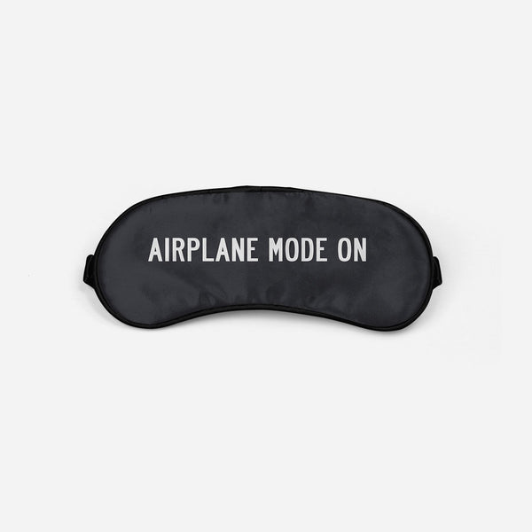 Airplane Mode On Sleep Masks Aviation Shop Light Gray Sleep Mask