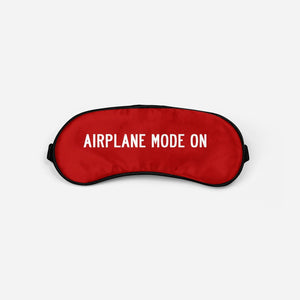 Airplane Mode On Sleep Masks Aviation Shop Red Sleep Mask