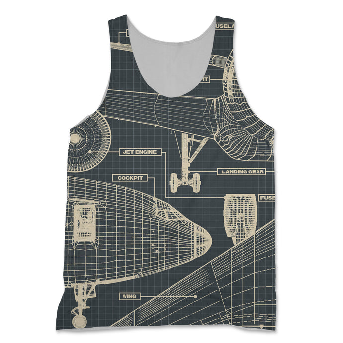 Airplanes Fuselage & Details Designed 3D Tank Tops