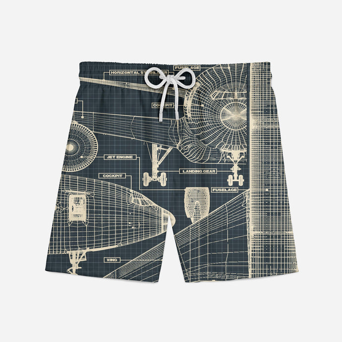 Airplanes Fuselage & Details Designed Swim Trunks & Shorts
