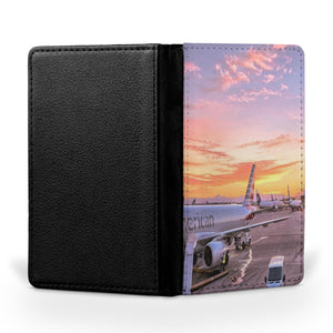 Airport Photo During Sunset Printed Passport & Travel Cases