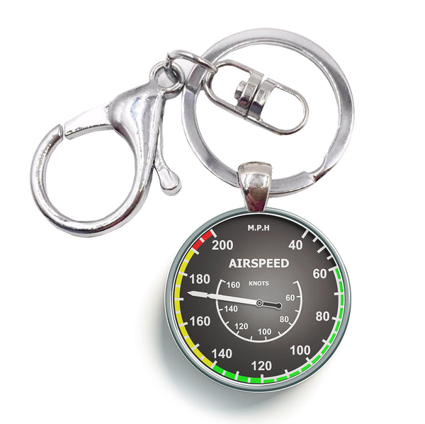 Airspeed 2 Designed Circle Key Chains