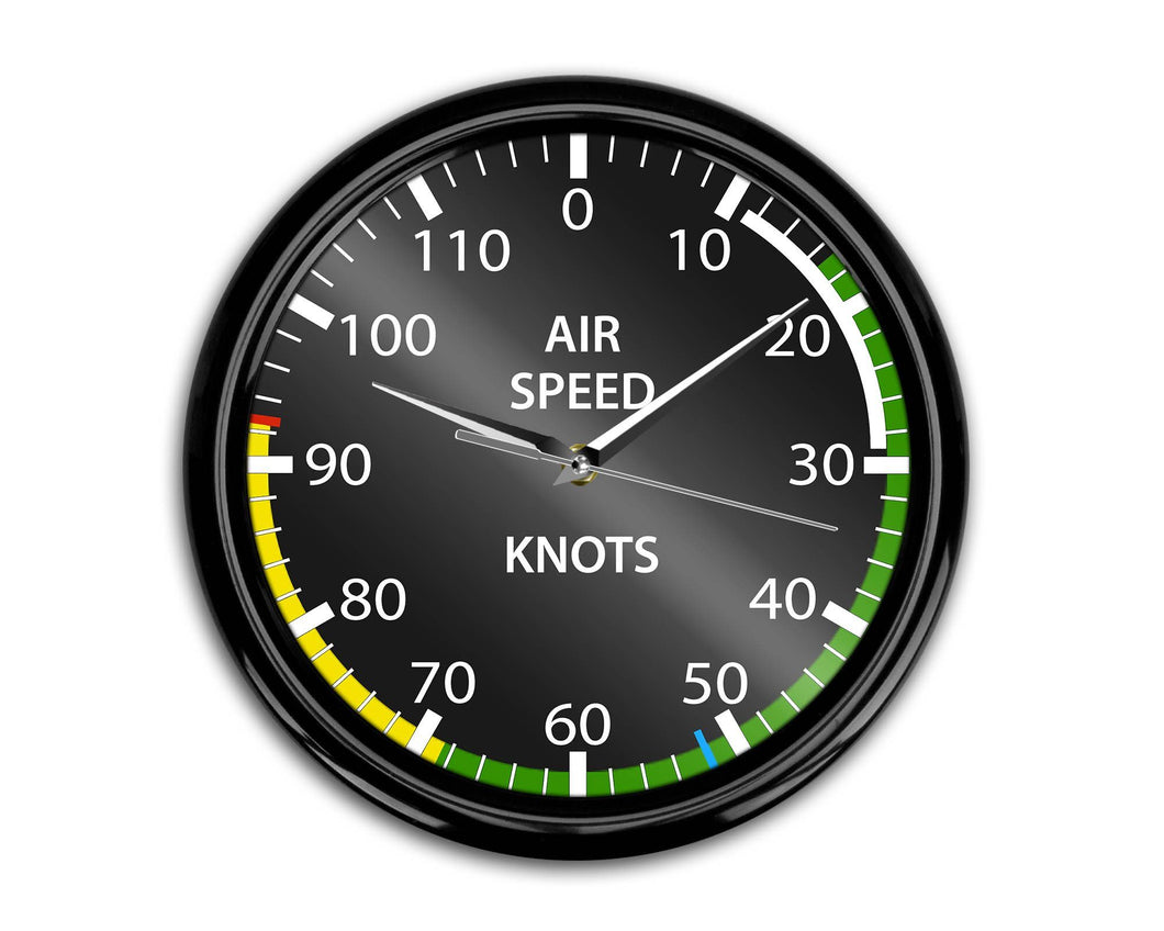 Airplane Instruments (Airspeed) Designed Wall Clocks Aviation Shop
