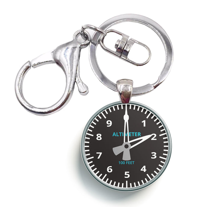 Altimeter Designed Circle Key Chains