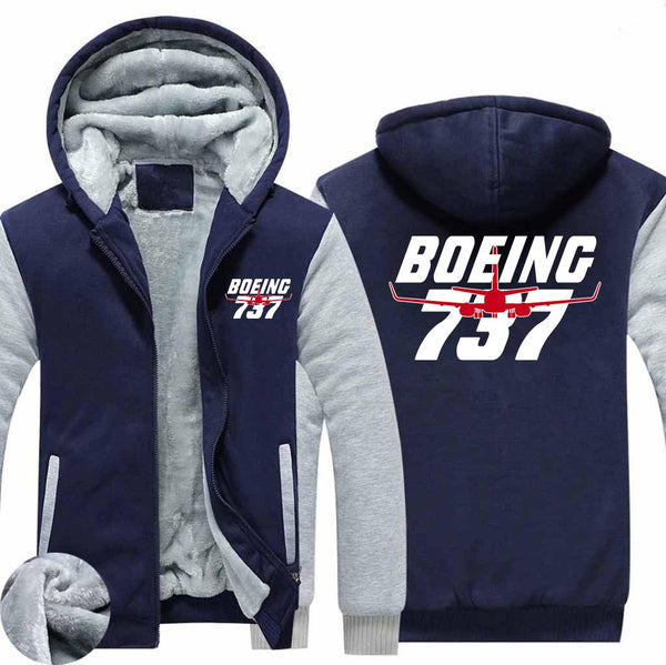 Amazing Boeing 737 Designed Zipped Sweatshirts