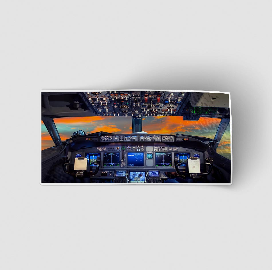 Amazing Boeing 737 Cockpit Designed Stickers