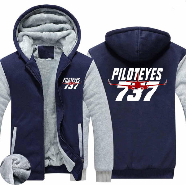 Amazing Piloteyes737 Designed Zipped Sweatshirts