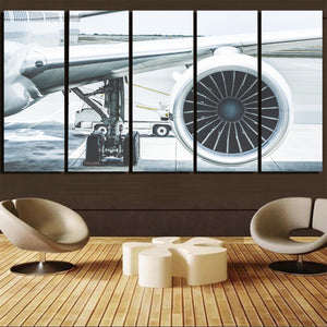 Amazing Aircraft & Engine Printed Canvas Prints (5 Pieces)