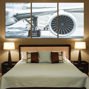 Amazing Aircraft & Engine Printed Canvas Posters (3 Pieces)