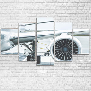 Amazing Aircraft & Engine Printed Multiple Canvas Poster