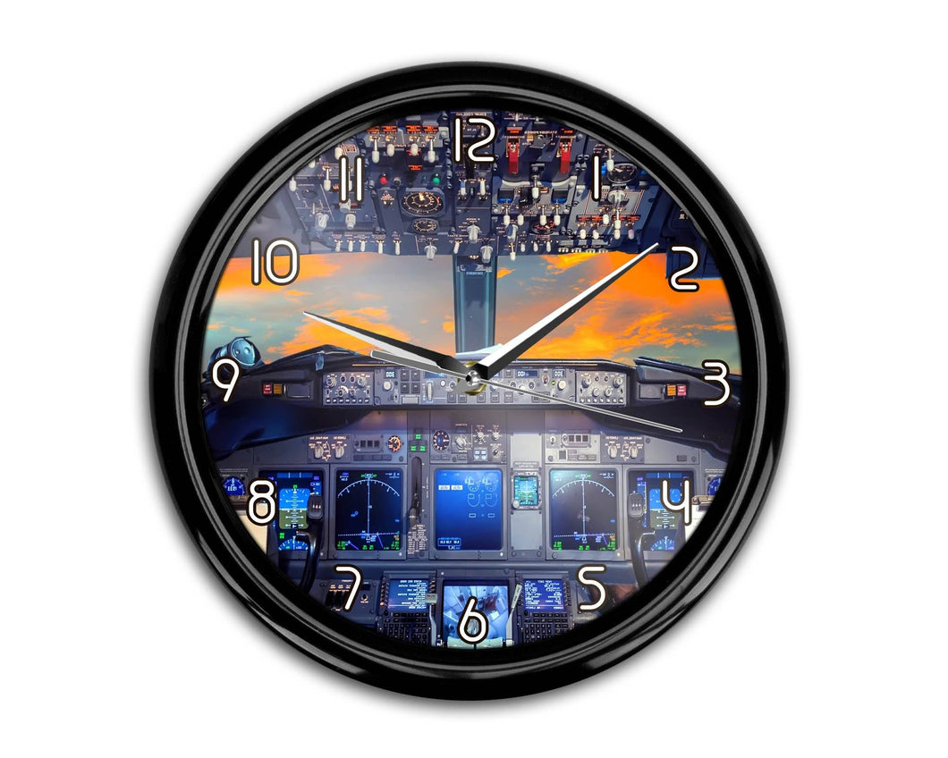 Amazing Boeing 737 Cockpit Printed Wall Clocks Aviation Shop