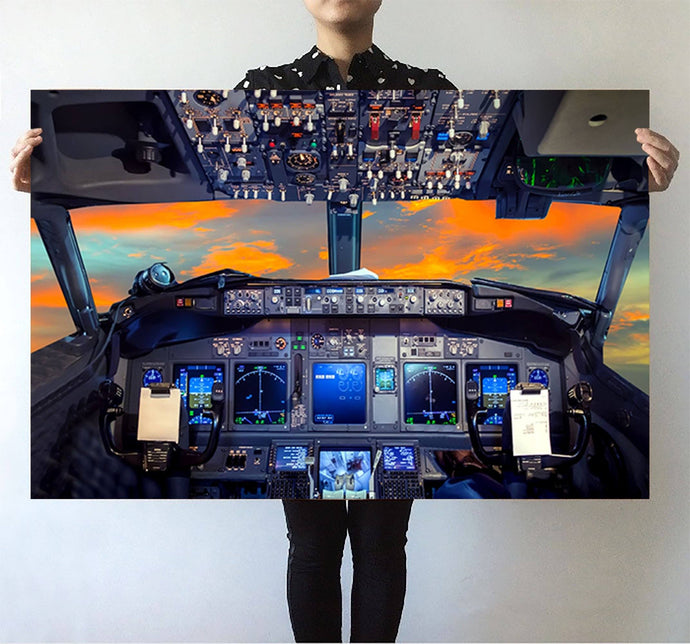 Amazing Boeing 737 Cockpit Printed Posters Aviation Shop