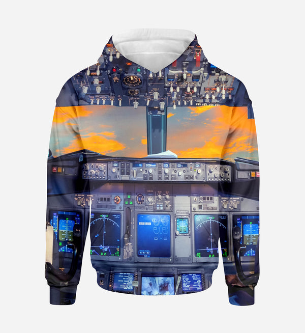 Amazing Boeing 737 Cockpit Printed 3D Hoodies