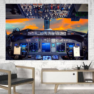 Amazing Boeing 737 Printed Canvas Posters (1 Piece) Aviation Shop