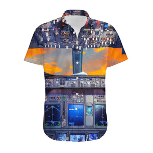 Amazing Boeing 737 Cockpit Designed 3D Shirts