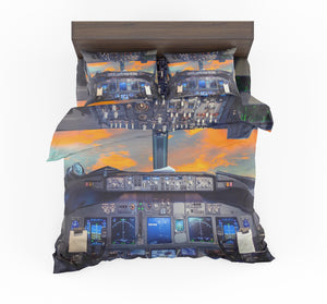 Amazing Boeing 737 Cockpit Designed Bedding Sets