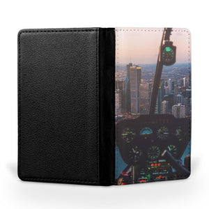 Amazing City View from Helicopter Cockpit Printed Passport & Travel Cases