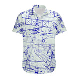Amazing Drawings of Old Aircrafts Designed 3D Shirts