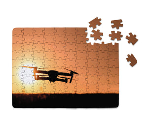 Amazing Drone in Sunset Printed Puzzles Aviation Shop