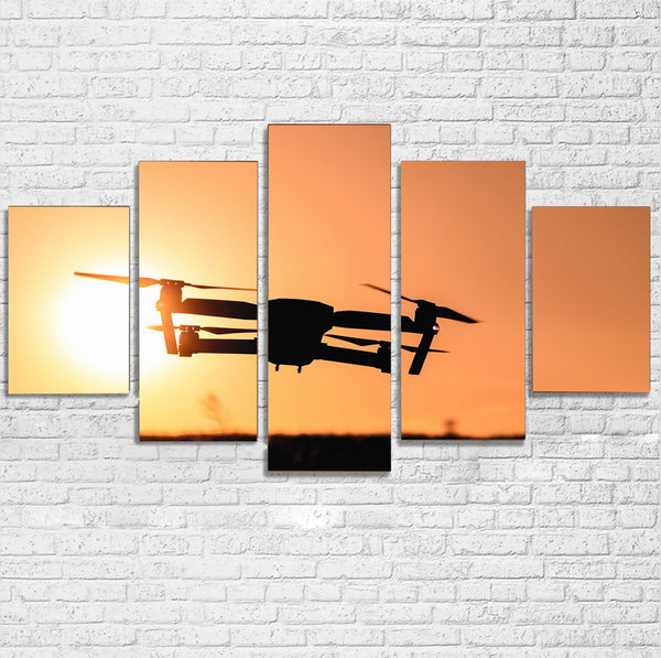 Amazing Drone in Sunset Printed Multiple Canvas Poster